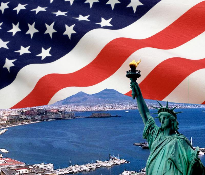 Napoli festeggia il 4 luglio, festa dell\\\'indipendenza americana a Pozzuoli.