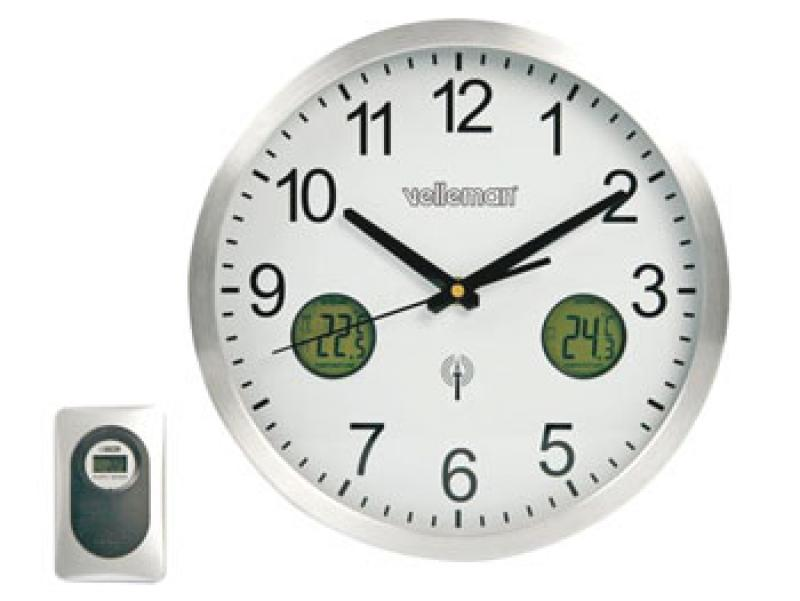 Orologio da parete con dcf e indicazione della temperatura interna/esterna